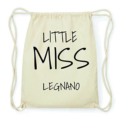 JOllify LEGNANO Hipster Turnbeutel Tasche Rucksack aus Baumwolle - Farbe: natur Design: Little Miss 5DiSeI