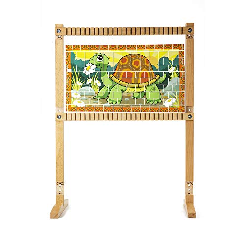 """41g%2BY3ClNBL - Melissa & Doug Wooden Multi-Craft Weaving Loom, Arts & Crafts, Extra-Large Frame, Develops Creativity and Motor Skills, 16.5"""" H x 22.75"""" W x 9.5"""" L"""
