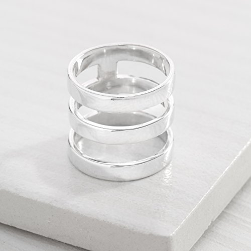 Silpada 'Contemporary Art' Triple-Bar Ring in Sterling Silver 4