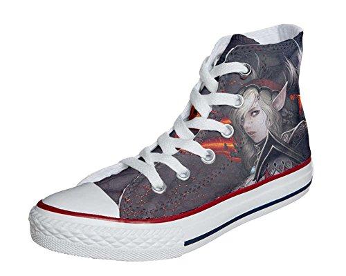 CONVERSE personalizzate All Star Sneaker unisex (Prodotto Artigianale) Woman Warrior