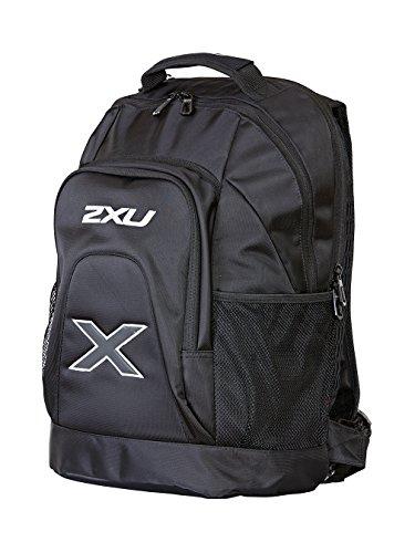 2XU Unisex Distance Backpack, black/black, One Size by 2XU