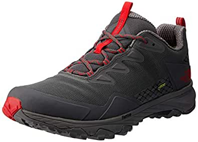 The North Face Men's Ultra Fastpack Iii GTX Trekking & Hiking Shoes, Blkened Pearl/TNF Red, 7 US