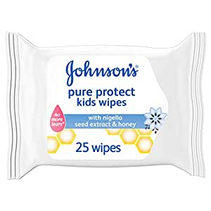 JOHNSON'S Kids, Kids Wipes, Pure Protect, Pack of 25 wipes