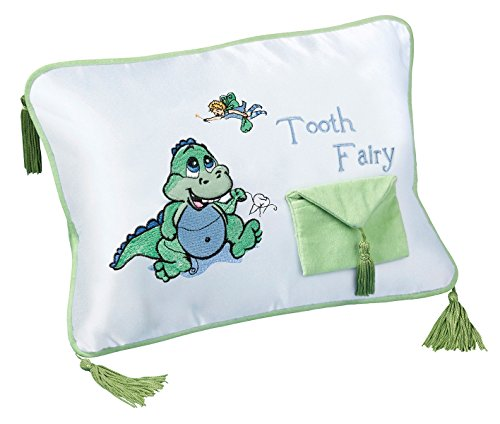 Lillian Rose Tooth Fairy Embroidered Pillow, Dinosaur, 12