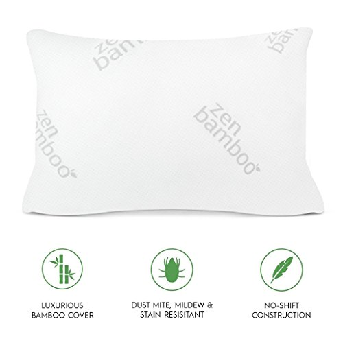 Zen Bamboo extremely Plush Gel Pillow Bed Pillows Positioners