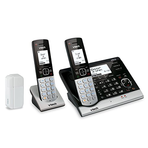 VTech Wireless Home Monitoring System Bundle - (1) VC7151 Cordless Phone, (1) VC7100 Cordless Handset & (1) VC7002 Open/Closed Sensor (System Closed)