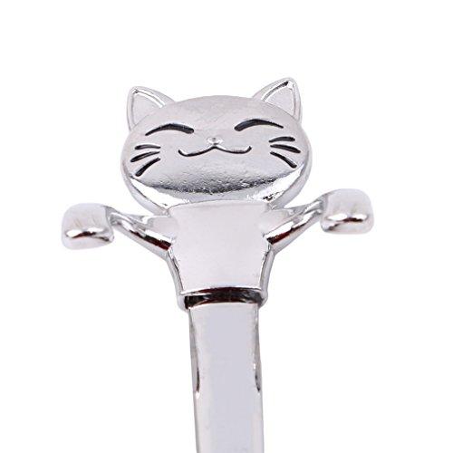 GUAngqi Cartoon Animal Coffee Spoon Long Handle Creative Hanging Spoon Teaspoon,1# - Edge Teaspoon