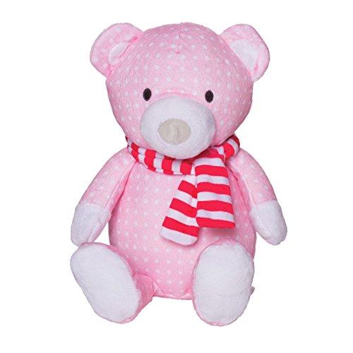 Manhattan Toy Holiday Pattern Plush Bear - Pink
