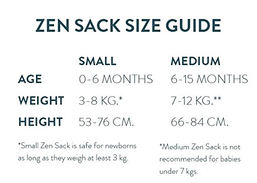 Amazon.com  Nested Bean Zen Sack Winter Weight - Gently Weighted Infant  Sleep Bag Designed to Feel Like You (TOG 2.5)(100% Cotton)(Stardust Grey)(3- 6 ... 0e02f72c6