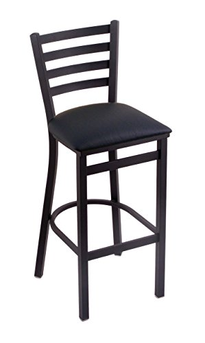 Holland Bar Stool Company 400 Jackie 25-Inch Stool with Black Wrinkle Finish, Black Vinyl Seat from Holland Bar Stool Company
