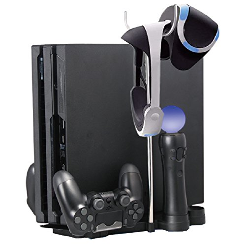Anrain-5-in-1-Storage-Bracket-Base-Vertical-Stand-Holder-for-PS4-Slim-PS4-Pro-VR-HeadsetCharging-Station-for-PS-Move-PS4-Controller