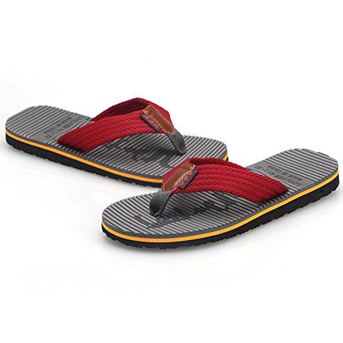 Cior Heren Handgemaakte Mode Strand Slipper Indoor En Outdoor Klassieke Flip-flop Thong Sandalen 02 Donker Grijs