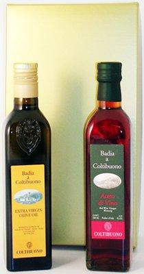 Bottled Red Wine (Badia a Coltibuono Extra Virgin Olive Oil & Vinegar Gift Set 2013 (2 bottles))