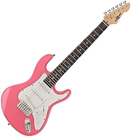 Guitarra Electrica LA 3/4 de Gear4music - Rosa: Amazon.es ...