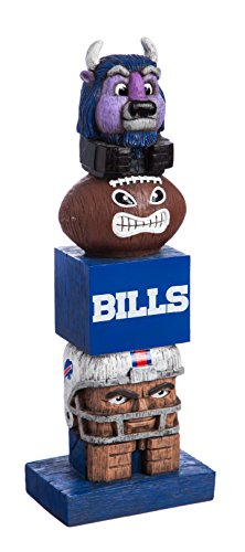 Team Sports America Outdoor Décor Buffalo Bills NFL Tiki Tiki Team Totem Garden Statue - 5.5