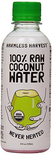 Harmless Harvest Organic 100 Percent Raw Coconut Water, 8 Fluid Ounce -- 12 per case. by Harmless Harvest