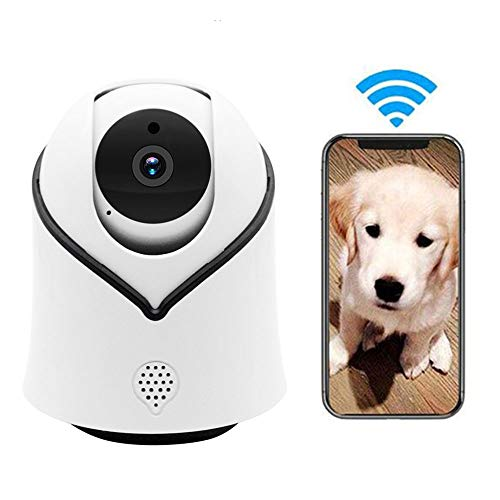 LEEFISH 1080P HD Pet Camera, WiFi Dog Monitor, IP Camera, Indoor for Baby/Dog/Cat with Motion Detection Infrared Night Vision Ptz Rotation Monitoring Two-Way Audio