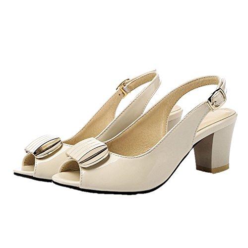 - Sky-Pegasus Summer 2018 New Women Sandals Leisure Sandal Women Open Toe Thick Medium Heels Size 33-43,Beige,4.5