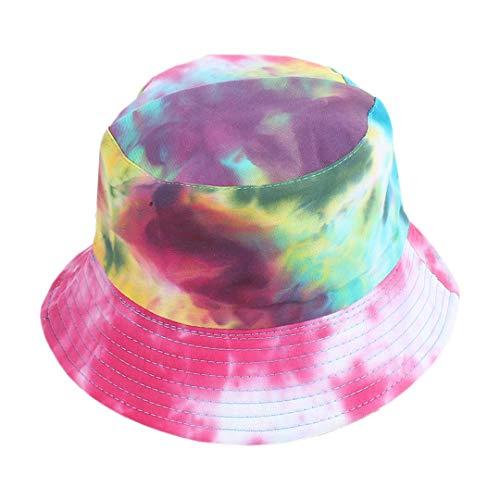 Surkat Women Reversible Tie Dye Bucket Hat Multicolored Fisherman Cap Packable Sun Hat