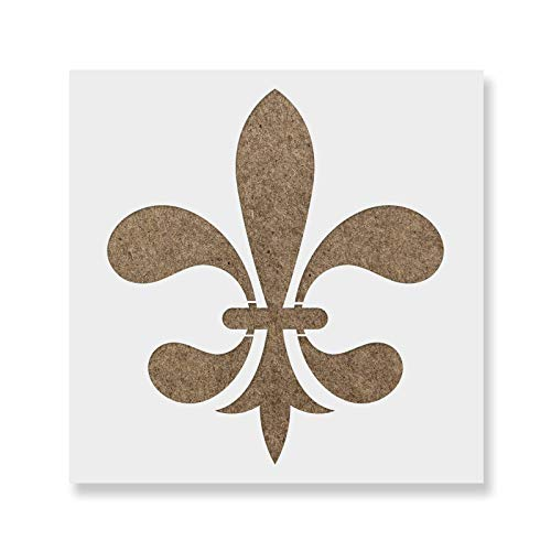 Fleur De Lis Stencil Template for Walls and Crafts - Reusable Stencils for Painting in Small & Large Sizes