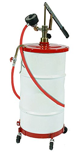 National Spencer 1208 Gear Lube Pump w/ Meter, Hose, Dolly & Cover for 16 Gallon Drum by Zee Line