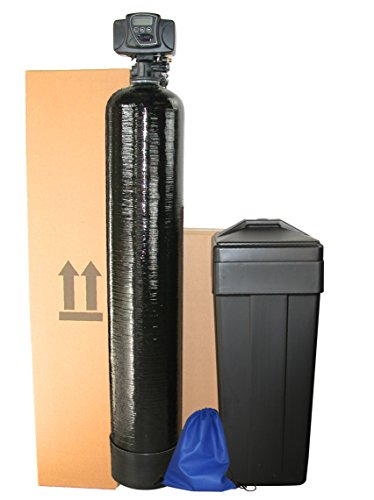 Water Softeners (ABCwaters Built Fleck 5600sxt 48,000 Black WATER SOFTENER w/UPGRADED 10% Resin + Hardness Test + Install Kit)