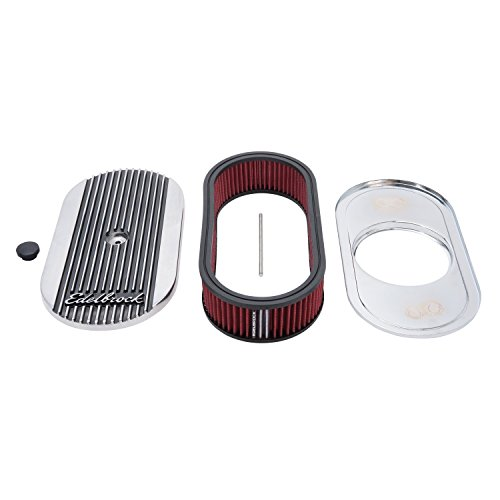Edelbrock 4273 Elite Series Oval Air Cleaner for Single 4-Barrel Carburetor