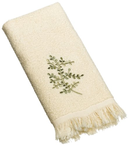 Avanti Linens Greenwood Fingertip Towel, Ivory ()