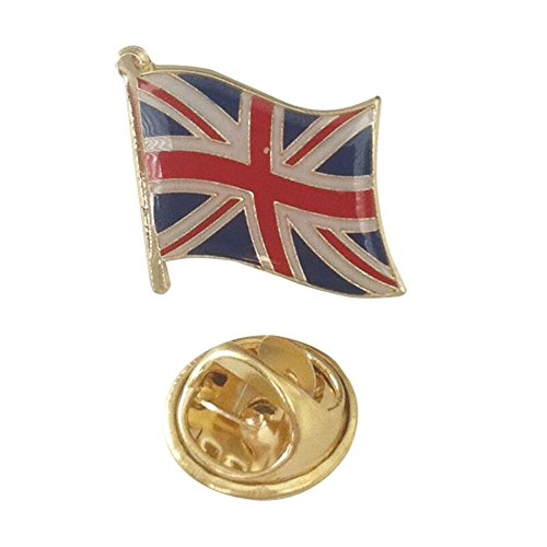 [Official Flag Pin of Great Britain - United Kingdom UK Union Jack Emblem for ties, hats, backpacks, as a collectible, and much more (British pin, 0.75