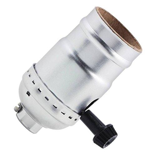 "Westinghouse 70406 - 2-3/4"" Brushed Nickel Three-Way Turn-Knob Socket (STD BASE 3-WAY SOCKET BN 70406)"