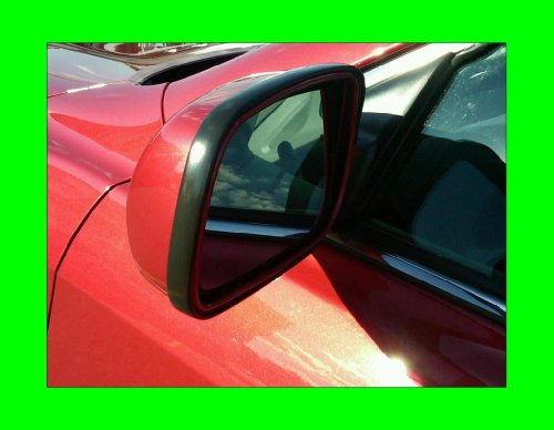 2002-2007 JAGUAR VANDEN PLAS BLACK SIDE MIRROR TRIM MOLDINGS 2PC 2003 2004 2005 2006 02 03 04 05 06 07 by true-line