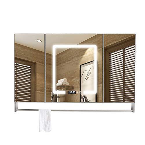 Bathroom cabinet Mirror cabinet Bathroom Wall Storage Mirror,Illuminated Mirror Wall,Design LED Illuminated - Sensor Shaver Illuminated Demister Bathroom Mirrors Led Cabinet