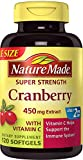 Nature Made Super Strength Cranberry Plus Vitamin C Supplement, 120 Count