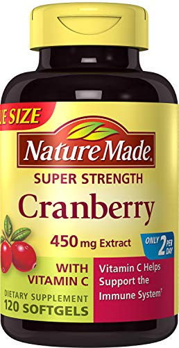 (Nature Made Super Strength Cranberry + Vitamin C Softgels Value Size 120 Ct)