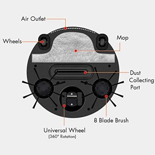 LEIXIN Sweepe Automatique 3 en 1 Robot Intelligent de Balayage de Balayage d\'aspiration Faire Glisser la Machine 1200PA Humide et Aspirateur Sec Balayer Cadeau