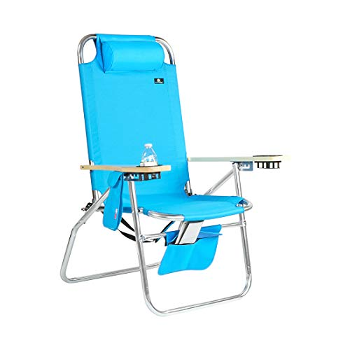 Deluxe XL Wide Big Boy Aluminum Heavy Duty Beach Chair 17 inches Seat Height - 300 lb Load