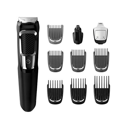 PHILIPS norelco all-in-one turbo-powered multigroom beard nose ear trimmer & shaver with 13 attachments