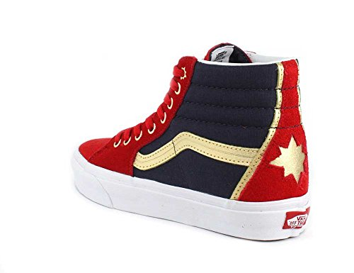 Marvel rojo rojo Vans SK8 Captain Marvel azul azul Hola zapatillas YPxvaw