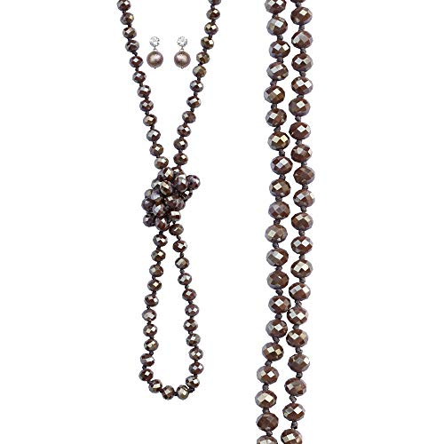 NOVAS Long Bead Necklace for Women 60