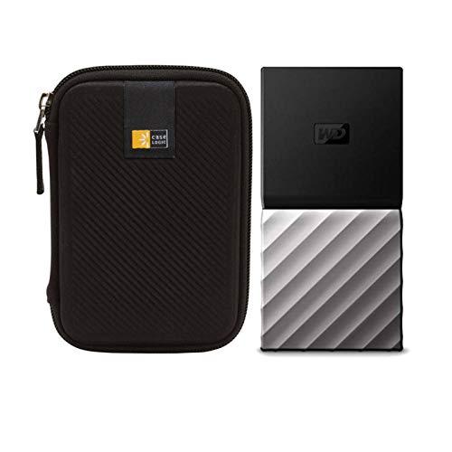 WD 2TB My Passport USB 3.1 Gen 2 External SSD + Compact Portable Hard Drive Case
