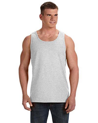 Fruit Of The Loom Men's Two Needle Hemmed Bottom Tank, Ash, X-Large by Fruit of the Loom