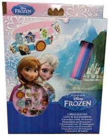Disney - WD92075D Caja de 3 brazaletes Frozen con 18 Accesorios ...