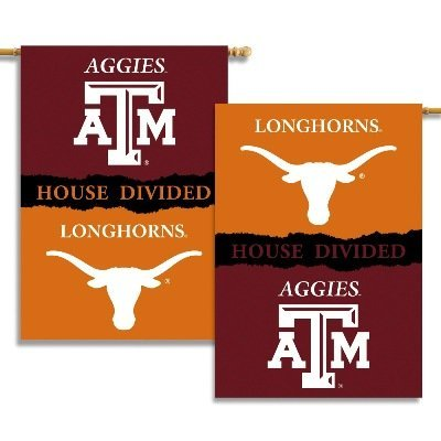 NCAA Texas Longhorns vs. Texas A&M Aggies 2-Sided 28-by-40 inch House Banner With Pole Sleeve