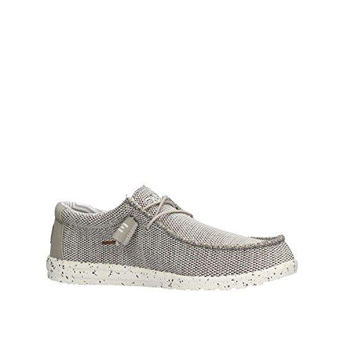 Hey Dude Men's Wally Sox Textile, Memory Foam Loafers Grey