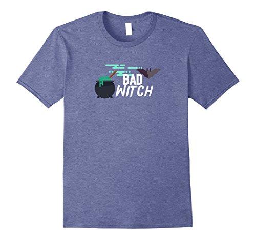 Mens Bad Witches Cauldron Dirty bat Halloween Costume Cheap Shirt 2XL Heather (Bad Teeth Halloween)