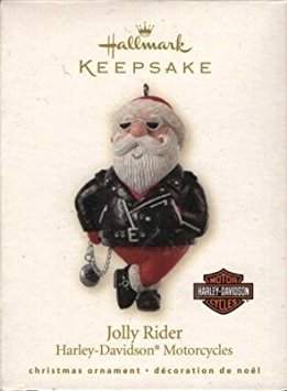Hallmark Keepsake Ornament QX12204: Jolly Rider (Harley-Davidson Motorcycles), Dated 2008, Designed by Sharon - Christmas Tree 2008 Ornament