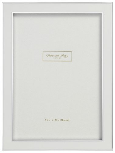 Addison Ross, Contemporary Photo Frame, 5x7 , White Enamel,