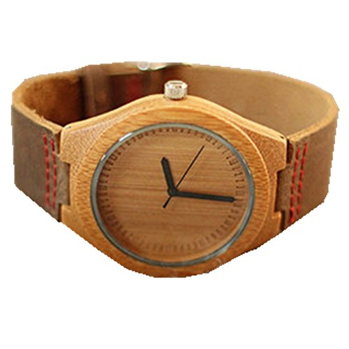 Meeyoung Wood Retro Leather Strap Watch