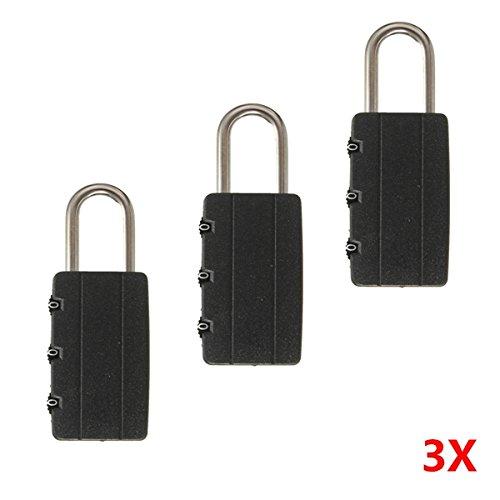 Vivona Hardware & Accessories Combination Password Lock Travel Luggage Padlock Suitcase Gym Locker - (Quantity: 3pcs) by Vivona