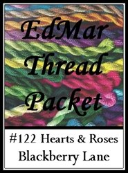 Brazilian Embroidery Stitches (Hearts and Roses - Blackberry Lane Brazilian Embroidery EdMar thread packet only #122 )